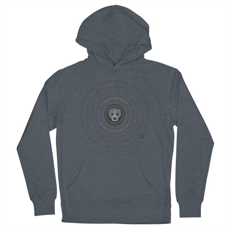 COME HOME LAIKA Men's Pullover Hoody by Quick Brown Fox