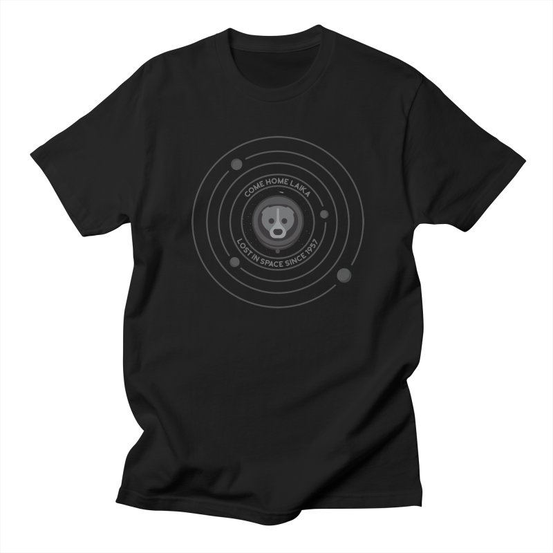 COME HOME LAIKA Men's T-Shirt by Quick Brown Fox