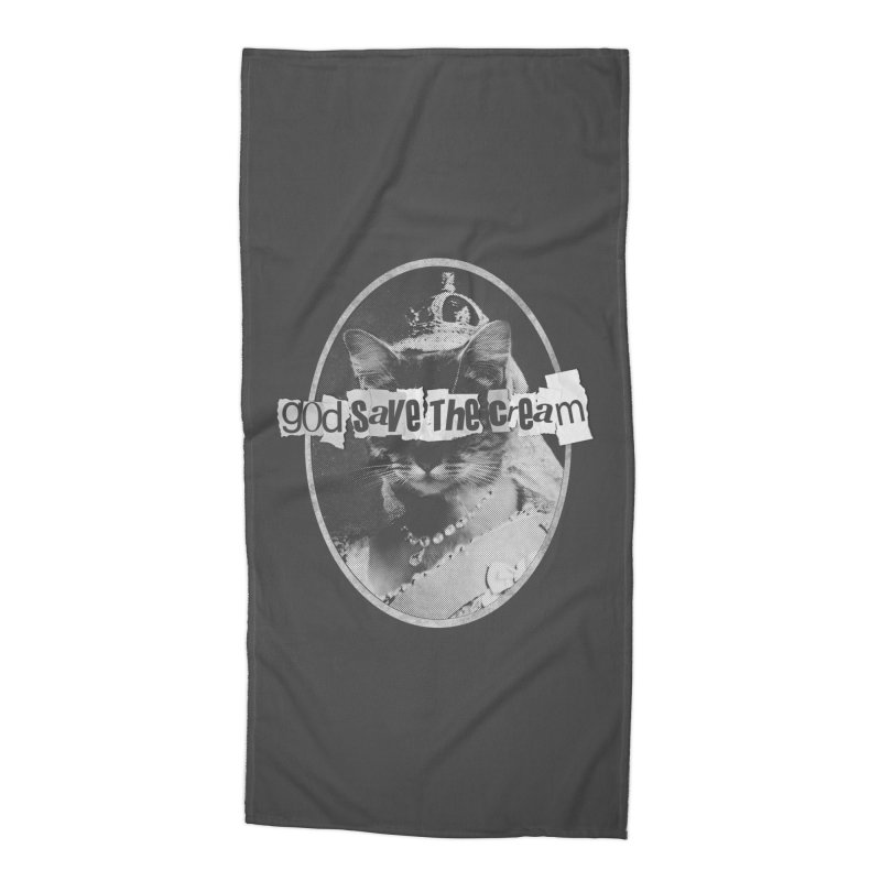 Never Mind the Furballs Accessories Beach Towel by Quick Brown Fox