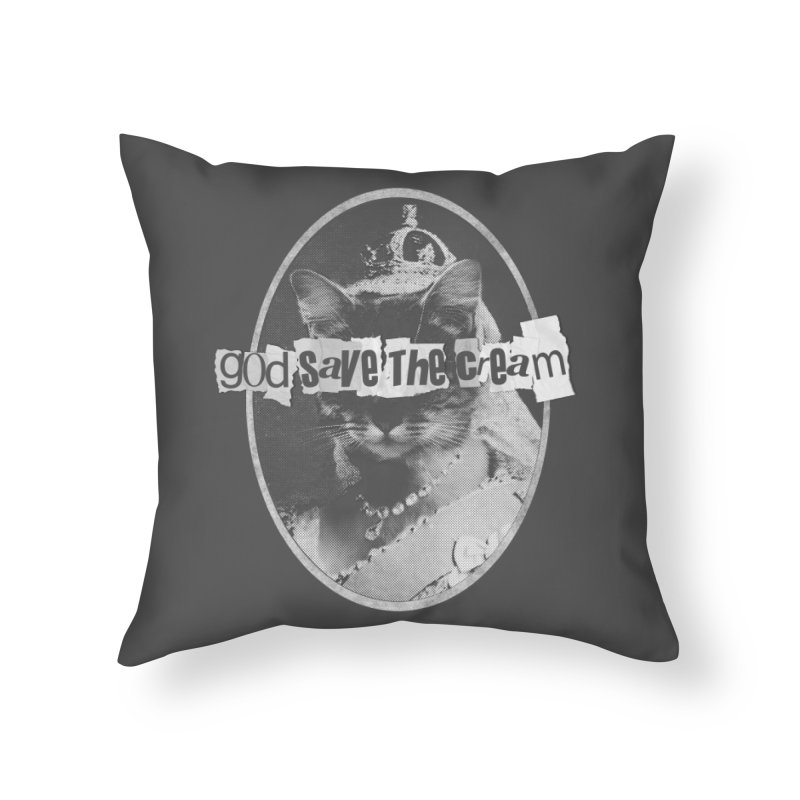 Never Mind the Furballs Home Throw Pillow by Quick Brown Fox