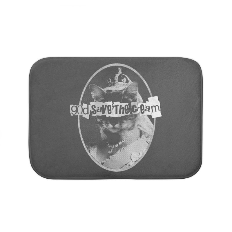Never Mind the Furballs Home Bath Mat by Quick Brown Fox