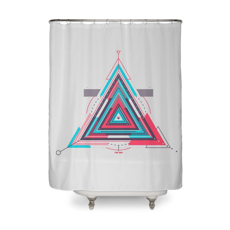 No Happy Endings Home Shower Curtain by Quick Brown Fox
