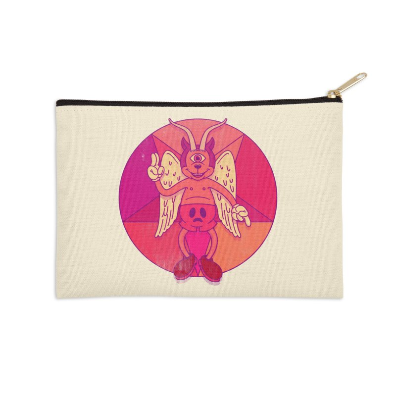 Georgie Goat Accessories Zip Pouch by Quick Brown Fox
