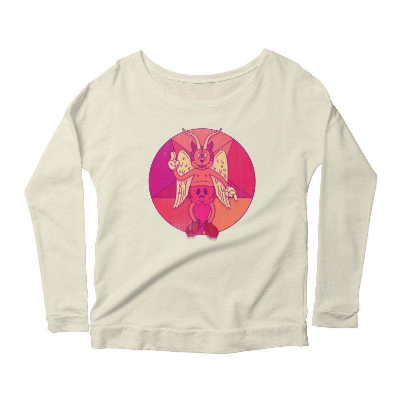 Georgie Goat Women's Scoop Neck Longsleeve T-Shirt by Quick Brown Fox