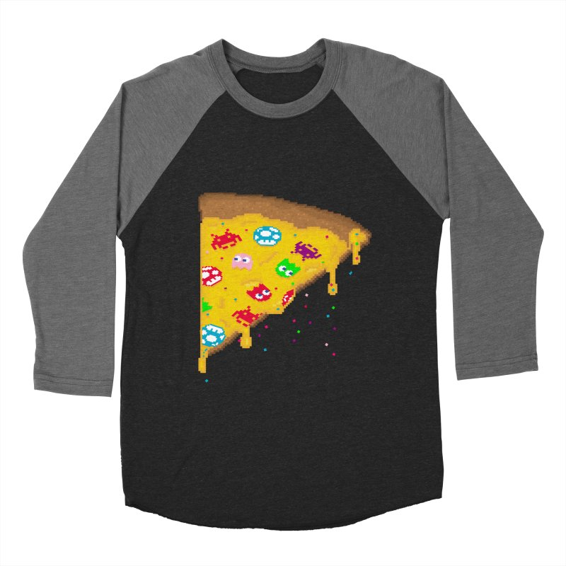 8-Bizza Men's Baseball Triblend Longsleeve T-Shirt by Quick Brown Fox