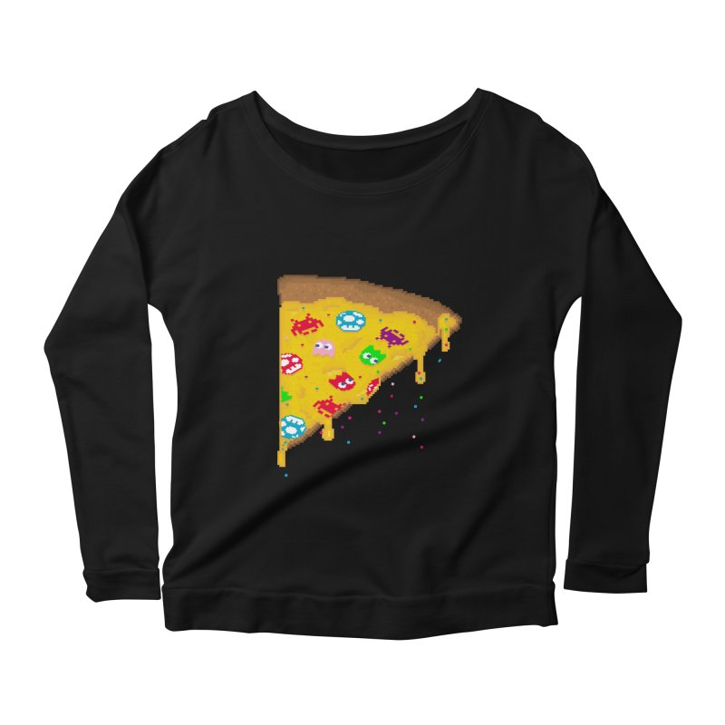 8-Bizza Women's Scoop Neck Longsleeve T-Shirt by Quick Brown Fox