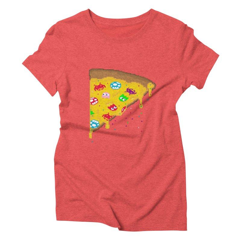 8-Bizza Women's Triblend T-Shirt by Quick Brown Fox