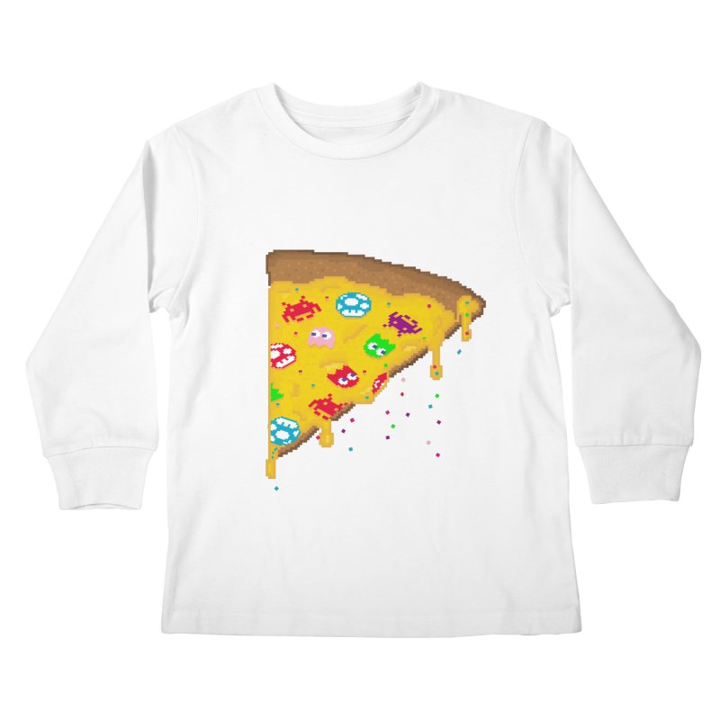 8-Bizza Kids Longsleeve T-Shirt by Quick Brown Fox