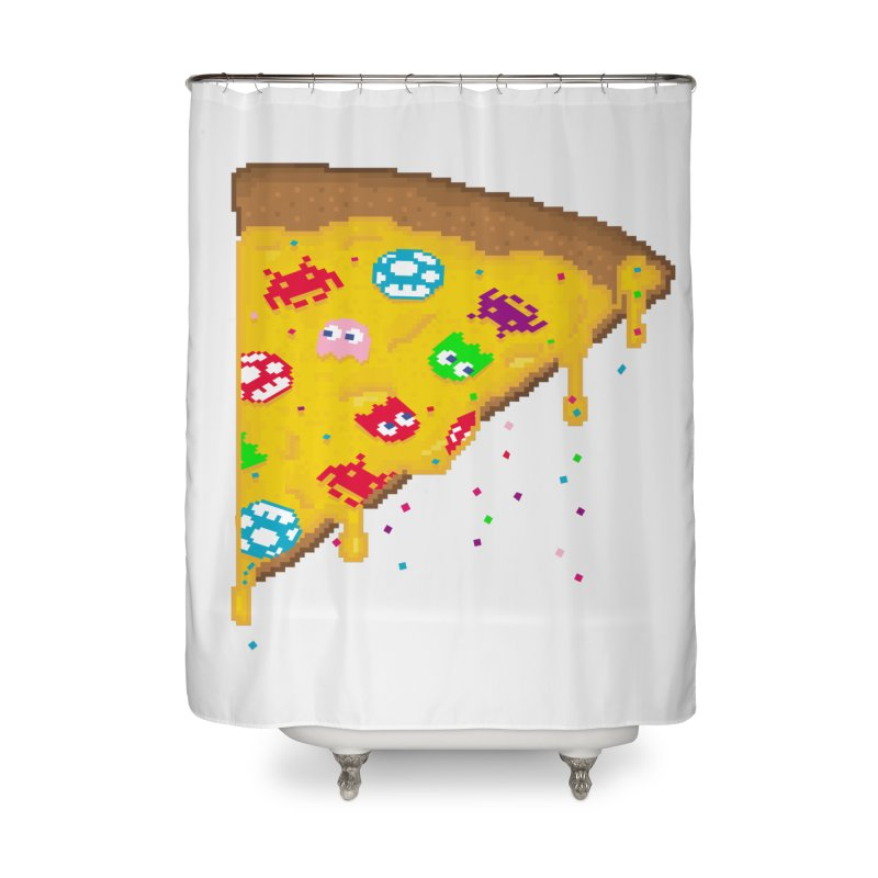 8-Bizza Home Shower Curtain by Quick Brown Fox