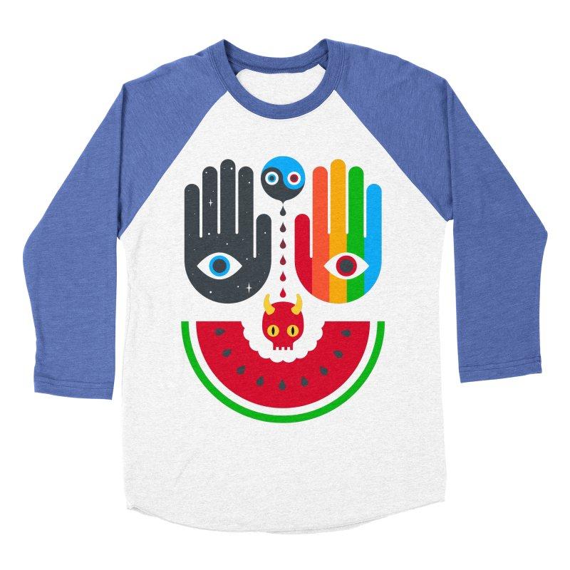 Idle Hands Men's Baseball Triblend T-Shirt by Quick Brown Fox