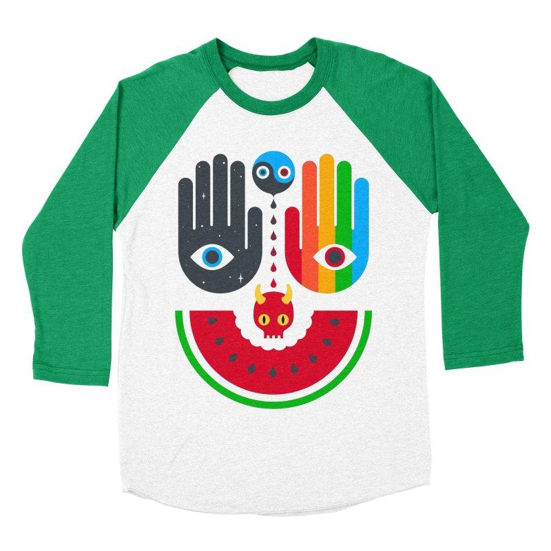Idle Hands Men's Baseball Triblend Longsleeve T-Shirt by Quick Brown Fox