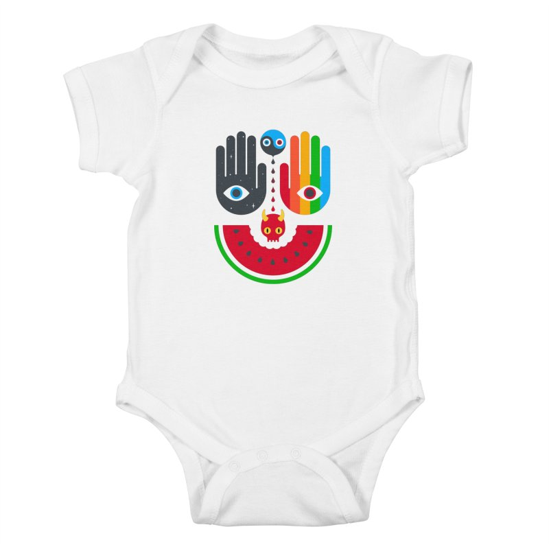 Idle Hands Kids Baby Bodysuit by Quick Brown Fox