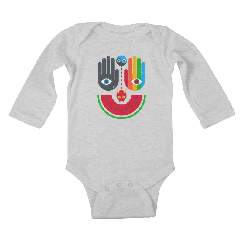 Idle Hands Kids Baby Longsleeve Bodysuit by Quick Brown Fox