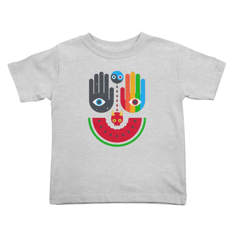 Idle Hands Kids Toddler T-Shirt by Quick Brown Fox