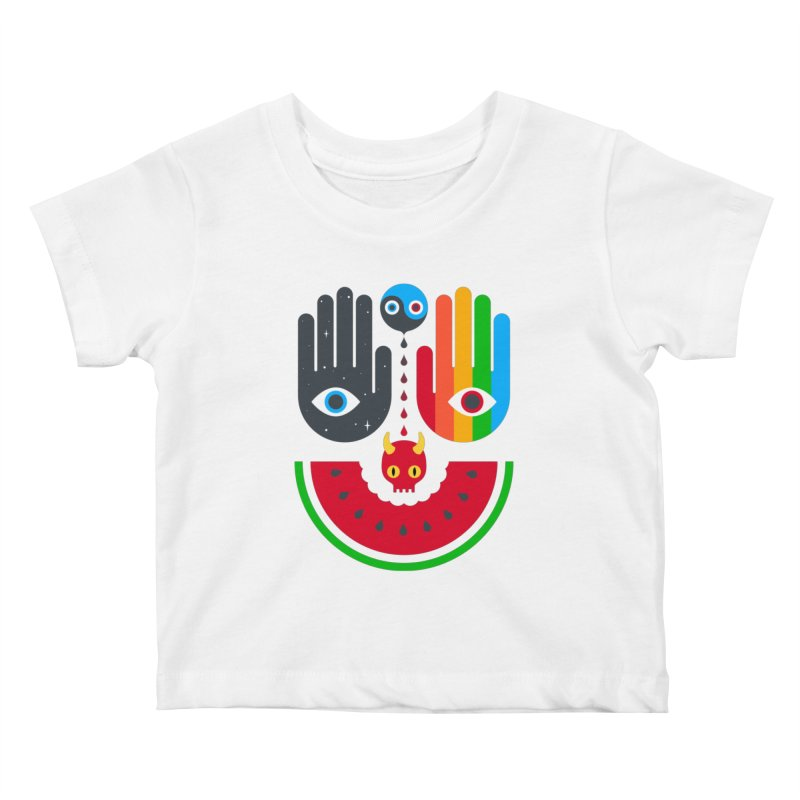 Idle Hands Kids Baby T-Shirt by Quick Brown Fox