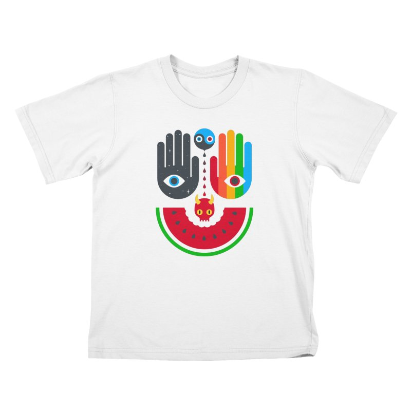Idle Hands Kids T-Shirt by Quick Brown Fox
