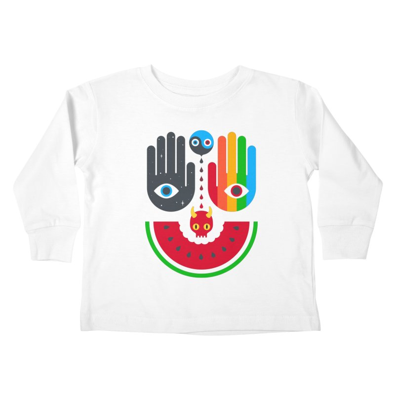 Idle Hands Kids Toddler Longsleeve T-Shirt by Quick Brown Fox