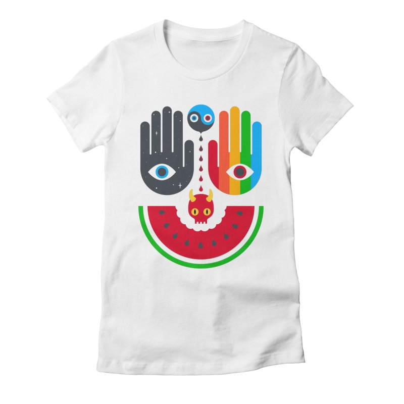 Idle Hands Women's Fitted T-Shirt by Quick Brown Fox