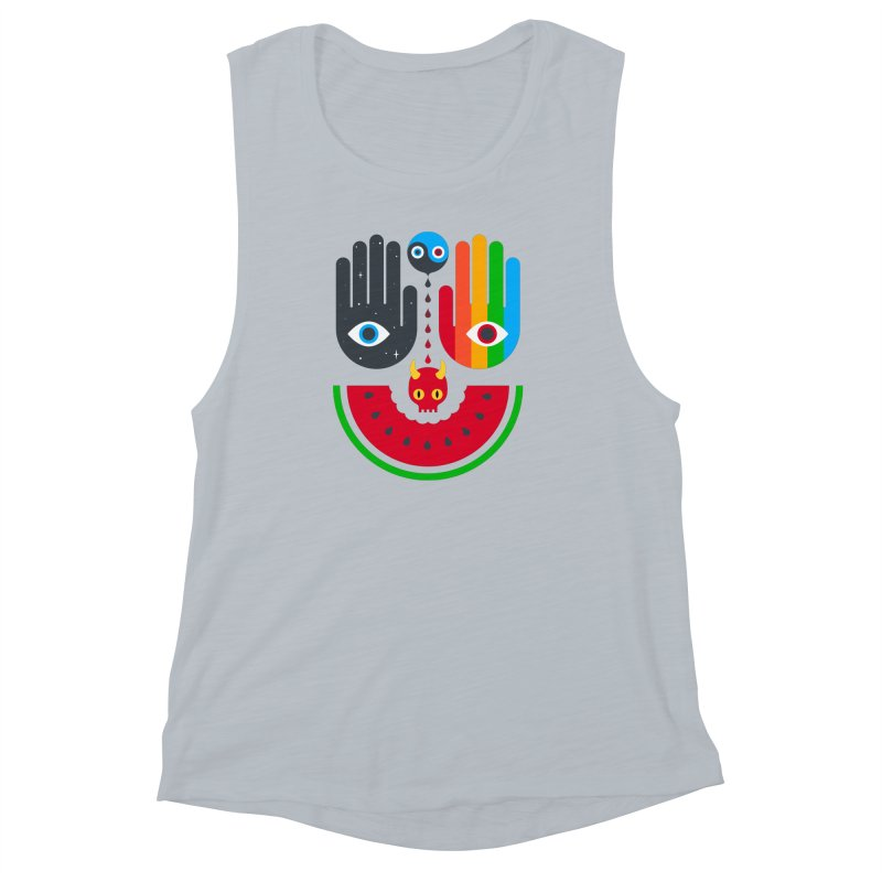 Idle Hands Women's Muscle Tank by Quick Brown Fox