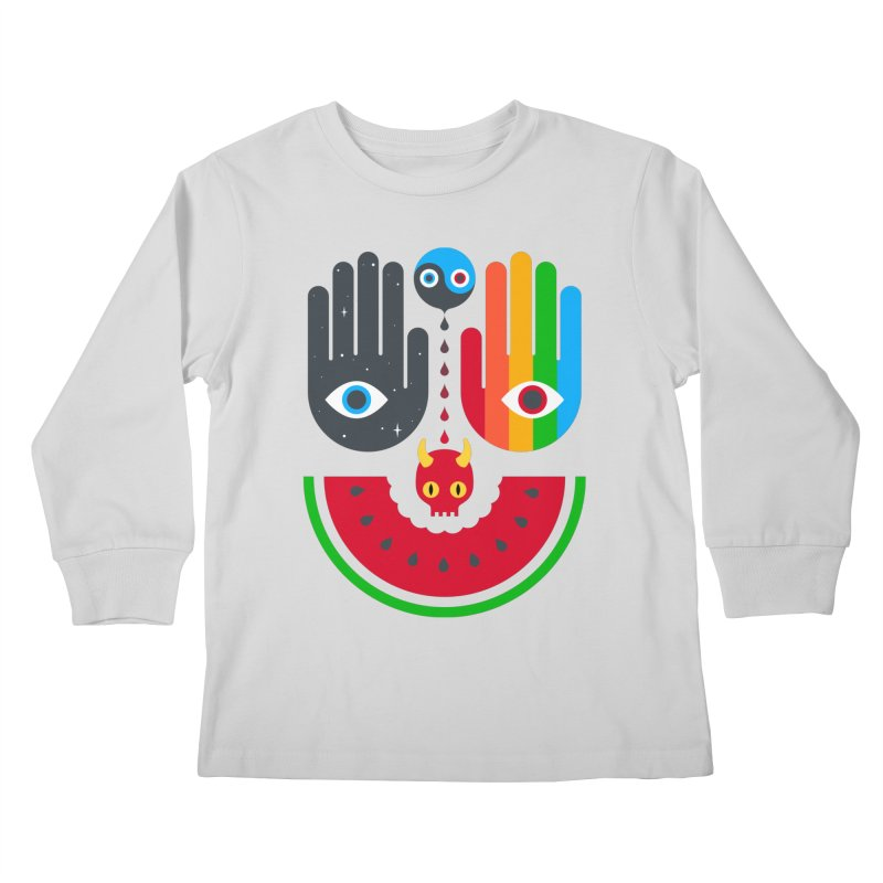 Idle Hands Kids Longsleeve T-Shirt by Quick Brown Fox