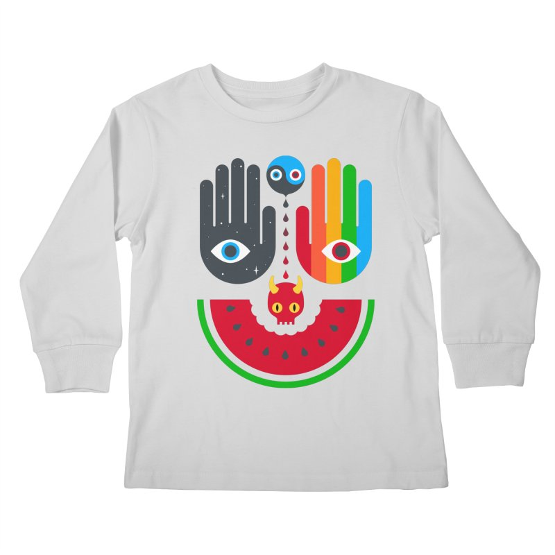 Idle Hands Kids Longsleeve T-Shirt by Quick Brown Fox