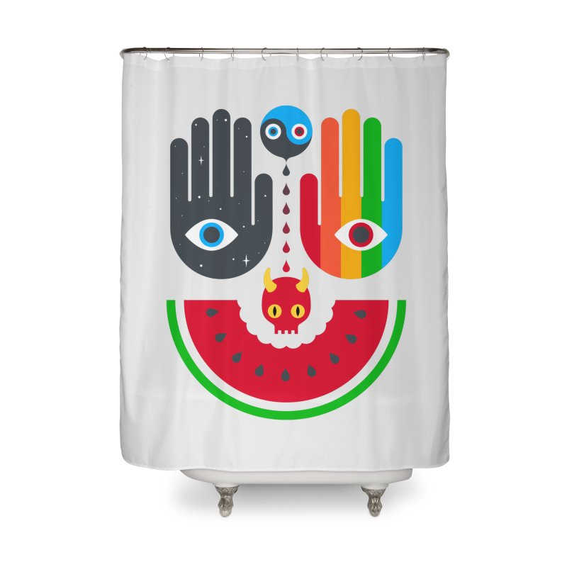 Idle Hands Home Shower Curtain by Quick Brown Fox