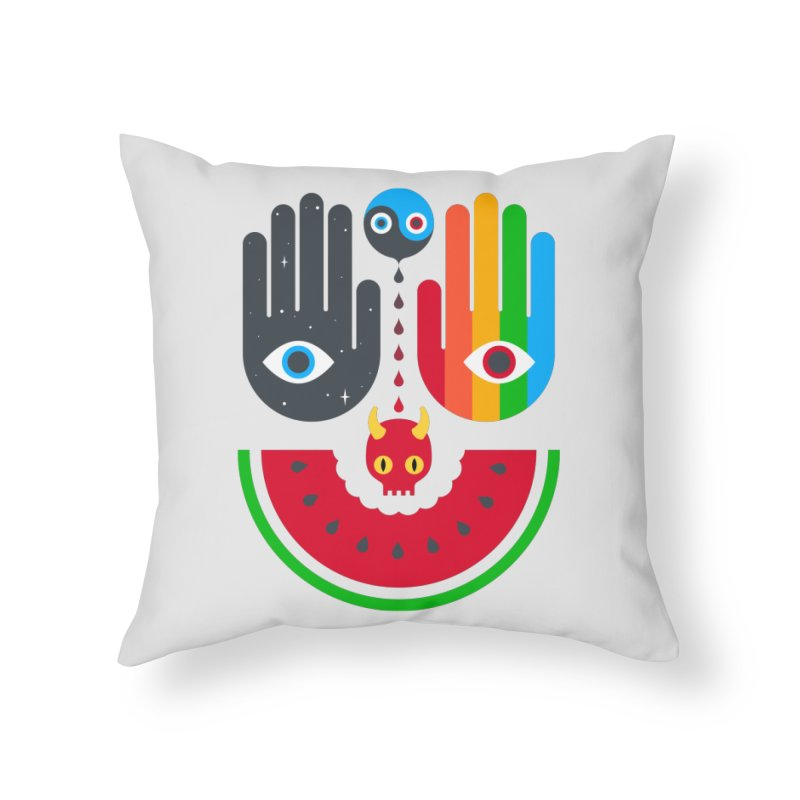 Idle Hands Home Throw Pillow by Quick Brown Fox