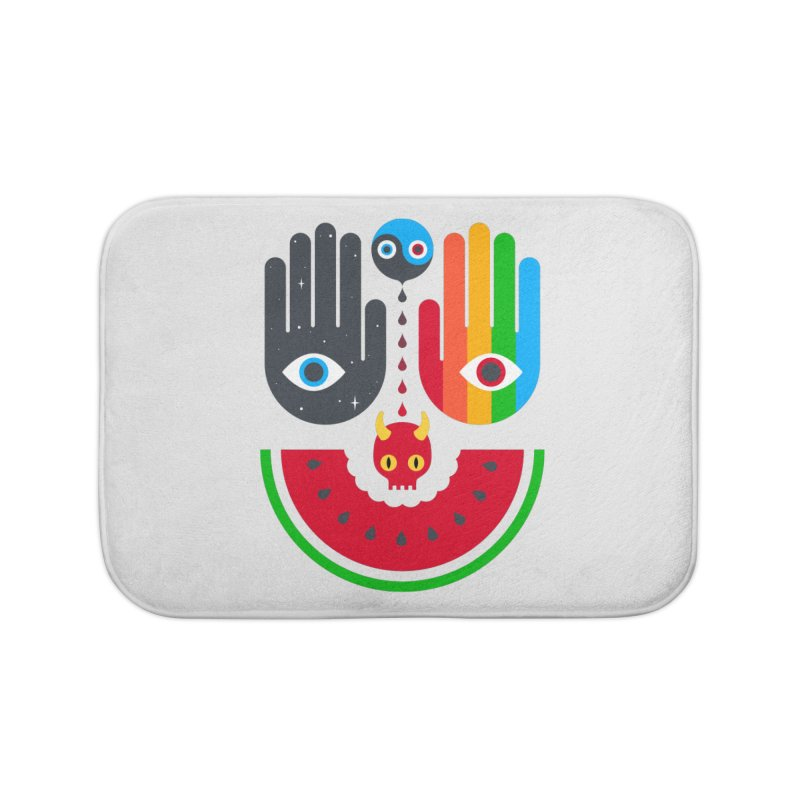 Idle Hands Home Bath Mat by Quick Brown Fox
