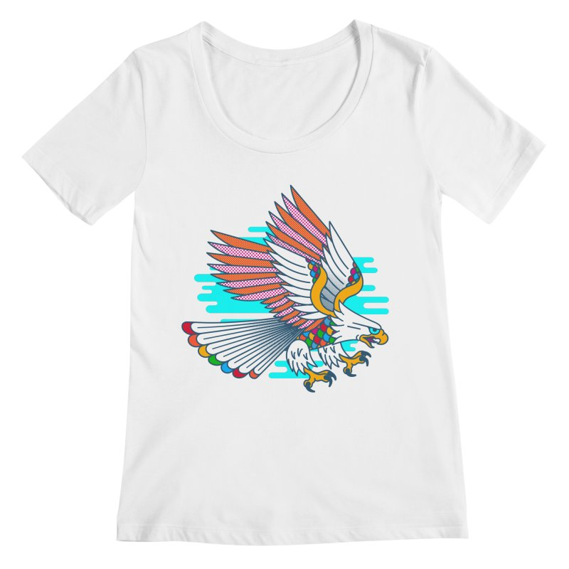 Flight of Fancy Women's Scoopneck by Quick Brown Fox