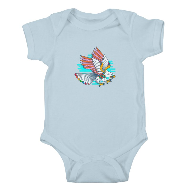 Flight of Fancy Kids Baby Bodysuit by Quick Brown Fox