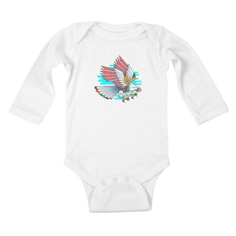 Flight of Fancy Kids Baby Longsleeve Bodysuit by Quick Brown Fox