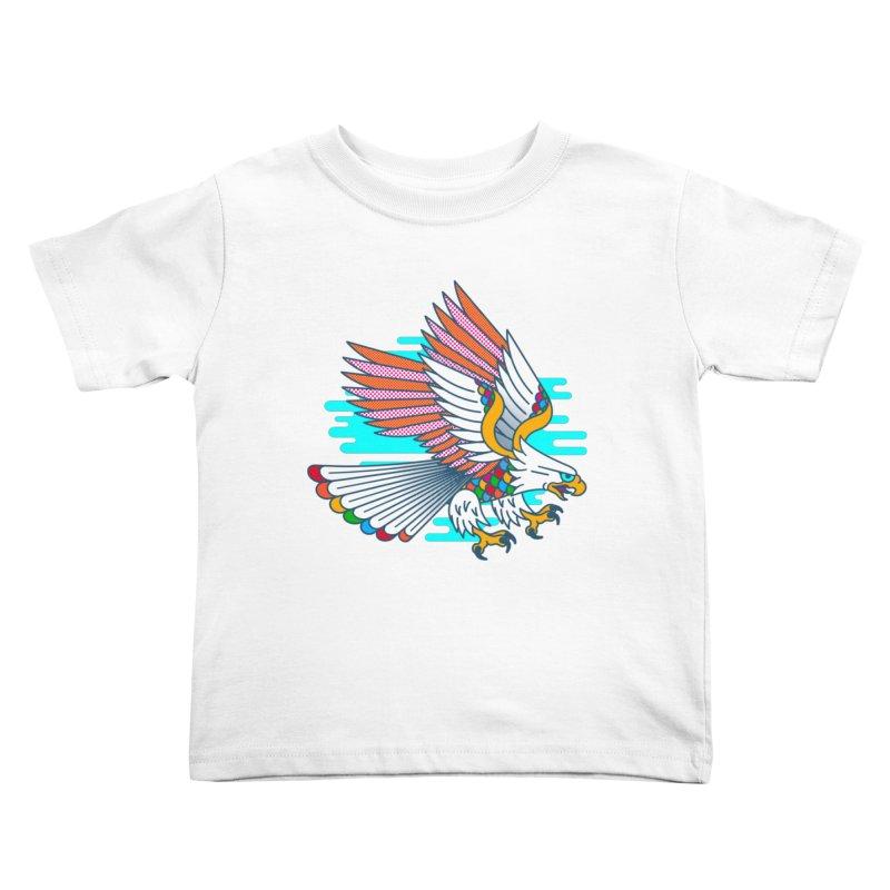 Flight of Fancy Kids Toddler T-Shirt by Quick Brown Fox
