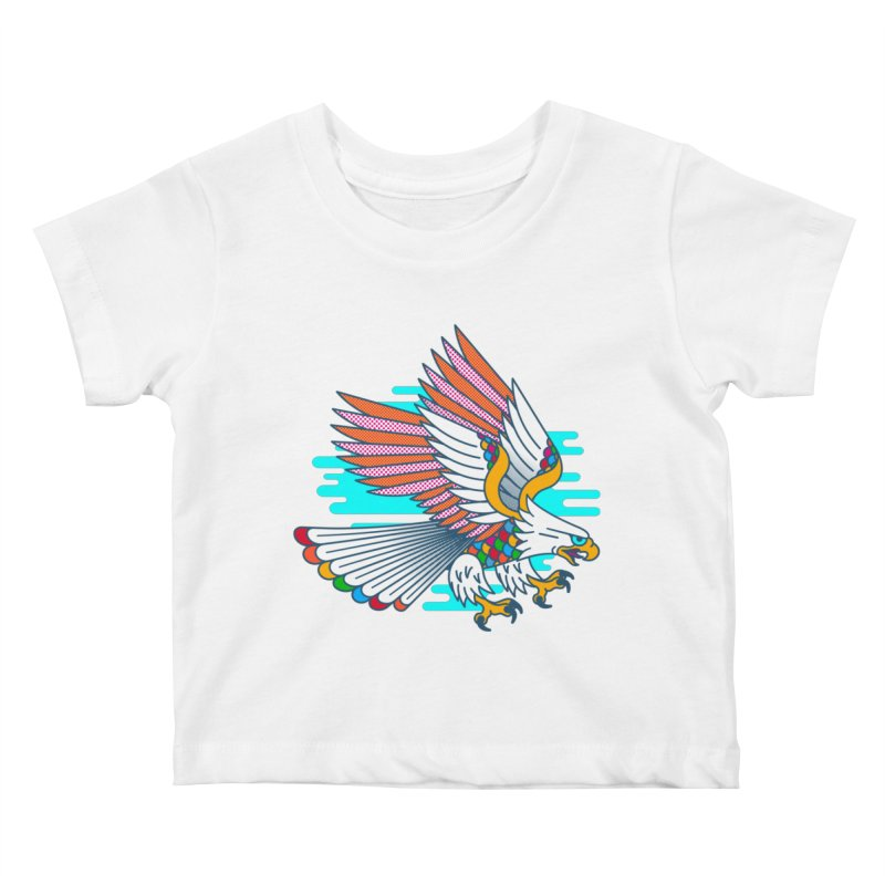 Flight of Fancy Kids Baby T-Shirt by Quick Brown Fox