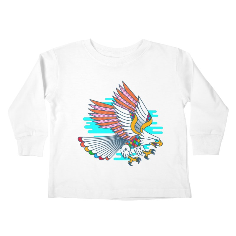 Flight of Fancy Kids Toddler Longsleeve T-Shirt by Quick Brown Fox