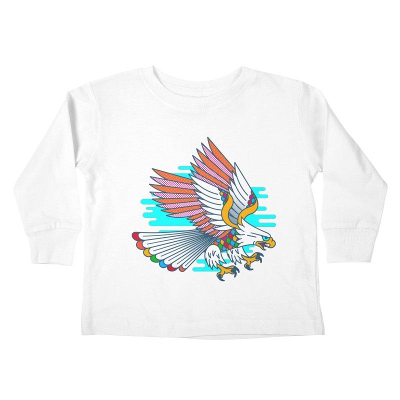 Flight of Fancy Kids Toddler Longsleeve T-Shirt by Quick Brown Fox