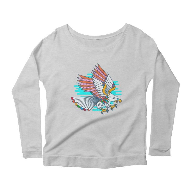 Flight of Fancy Women's Scoop Neck Longsleeve T-Shirt by Quick Brown Fox