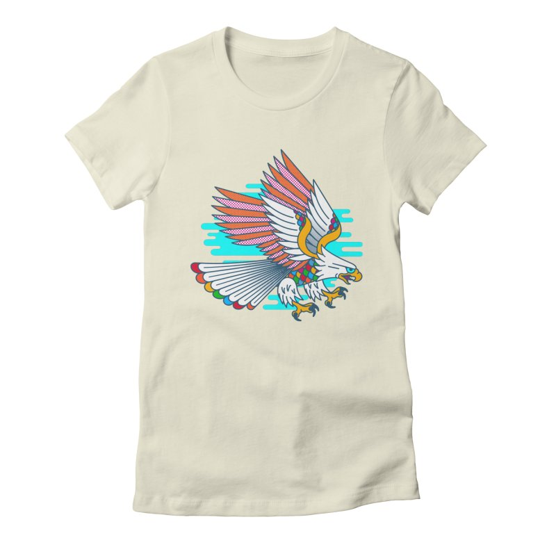 Flight of Fancy Women's Fitted T-Shirt by Quick Brown Fox