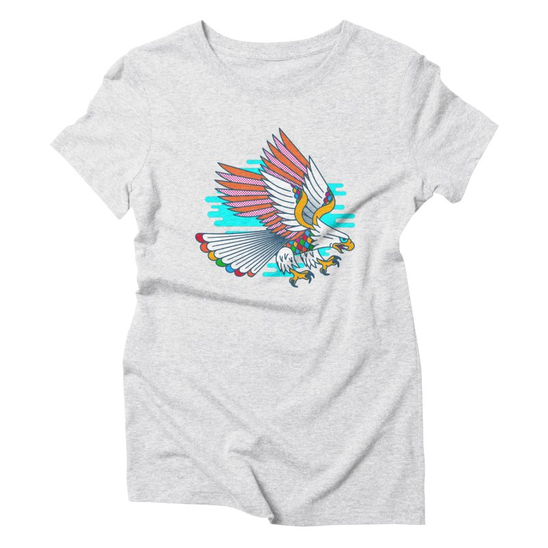 Flight of Fancy Women's Triblend T-Shirt by Quick Brown Fox