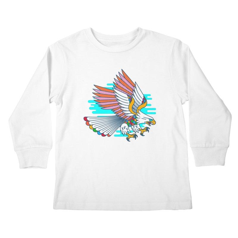 Flight of Fancy Kids Longsleeve T-Shirt by Quick Brown Fox