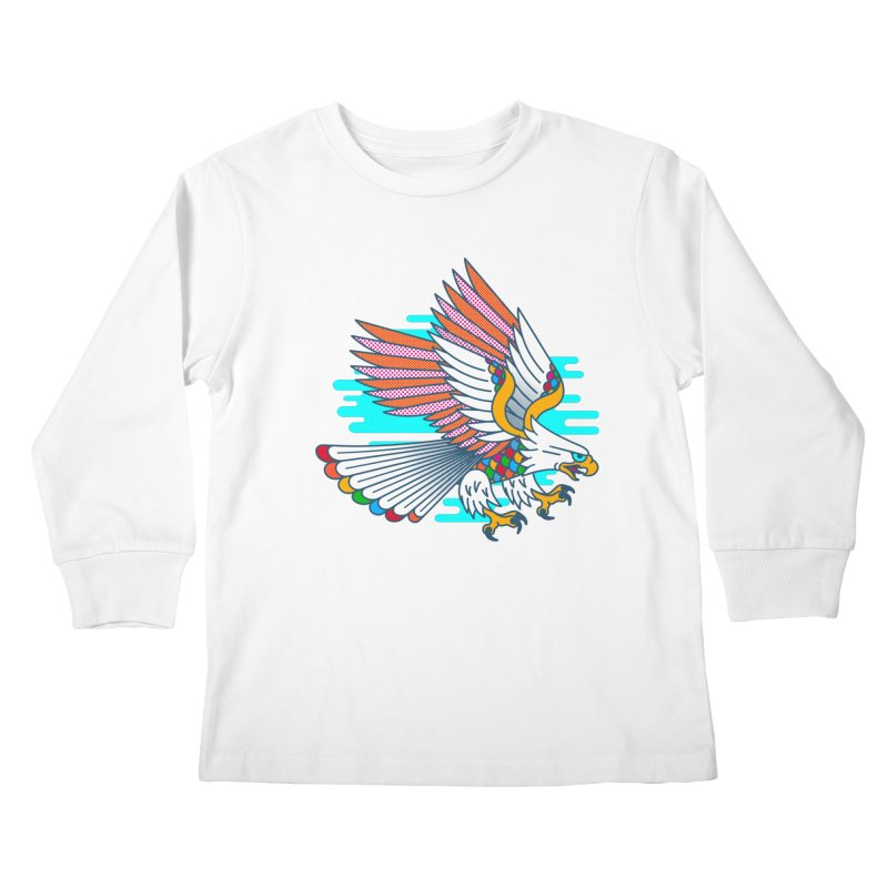 Flight of Fancy Kids Longsleeve T-Shirt by Quick Brown Fox