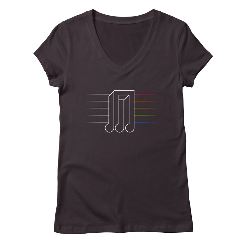 Transition Women's V-Neck by Quick Brown Fox