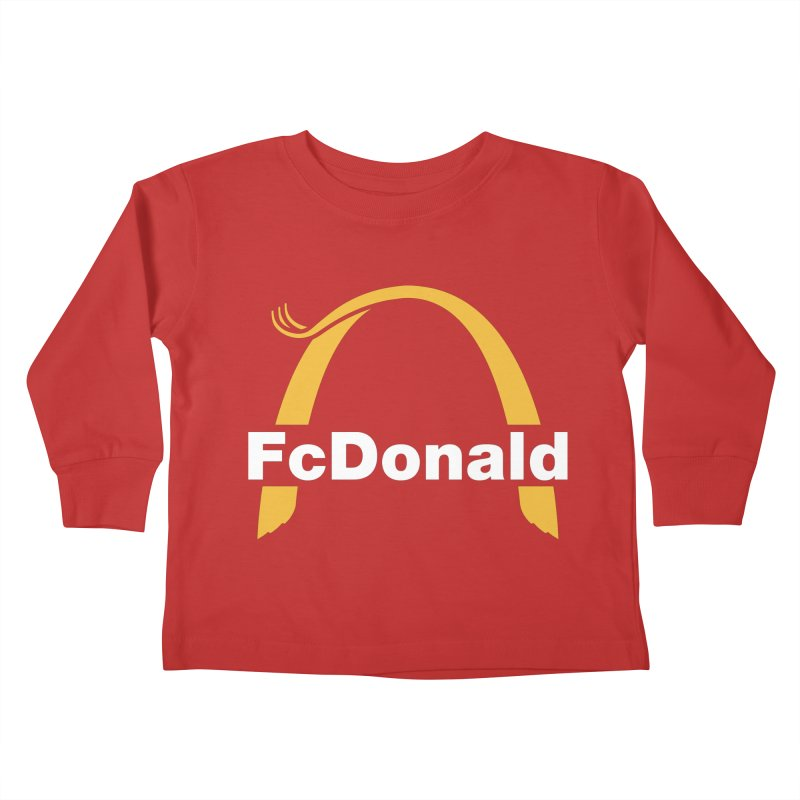 FcDonald Kids Toddler Longsleeve T-Shirt by Quick Brown Fox