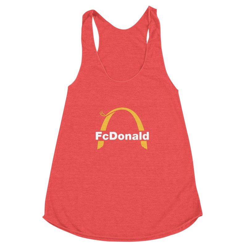 FcDonald Women's Racerback Triblend Tank by Quick Brown Fox