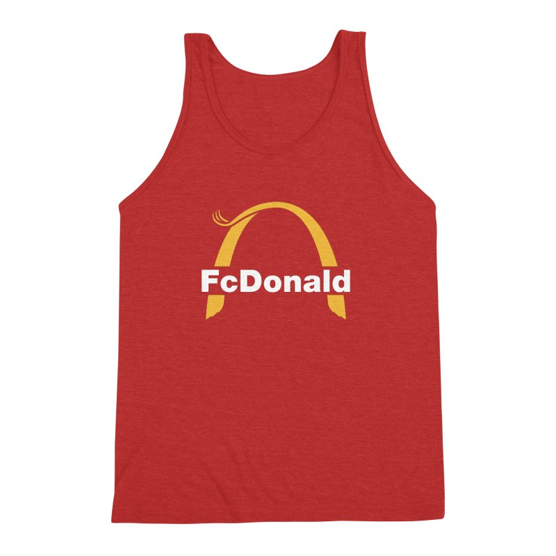 FcDonald Men's Triblend Tank by Quick Brown Fox