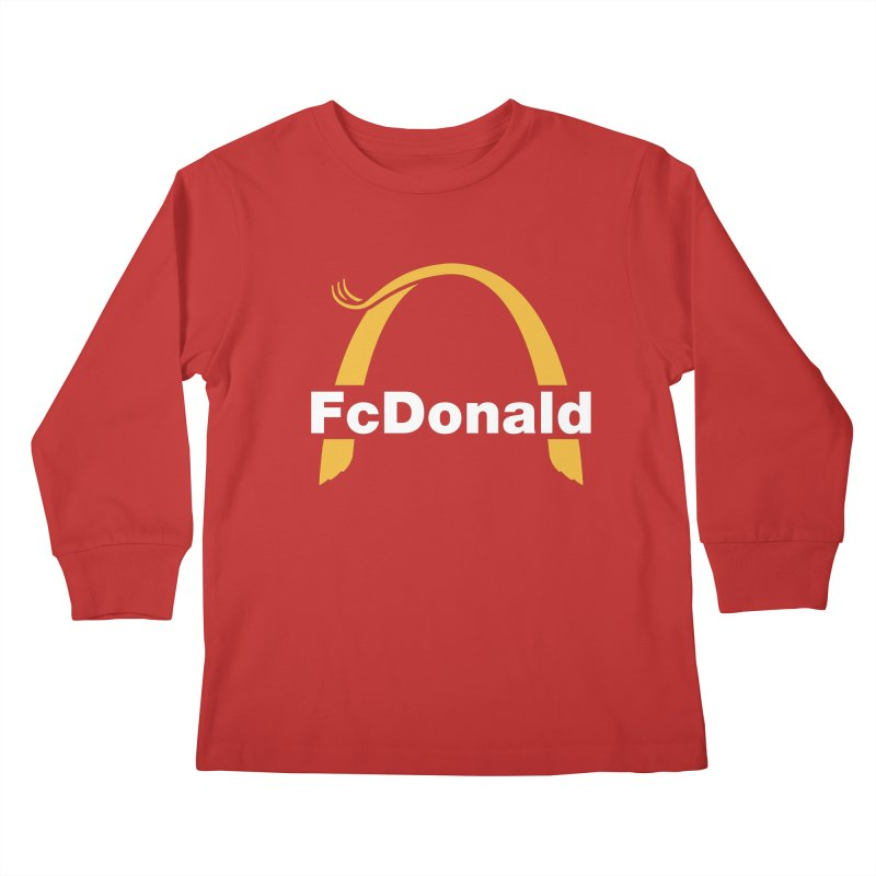 FcDonald Kids Longsleeve T-Shirt by Quick Brown Fox