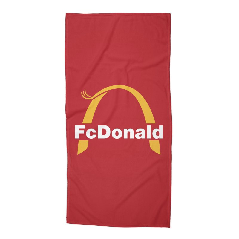 FcDonald Accessories Beach Towel by Quick Brown Fox