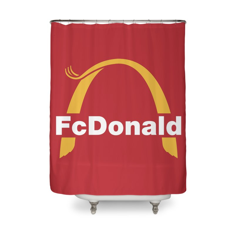 FcDonald Home Shower Curtain by Quick Brown Fox