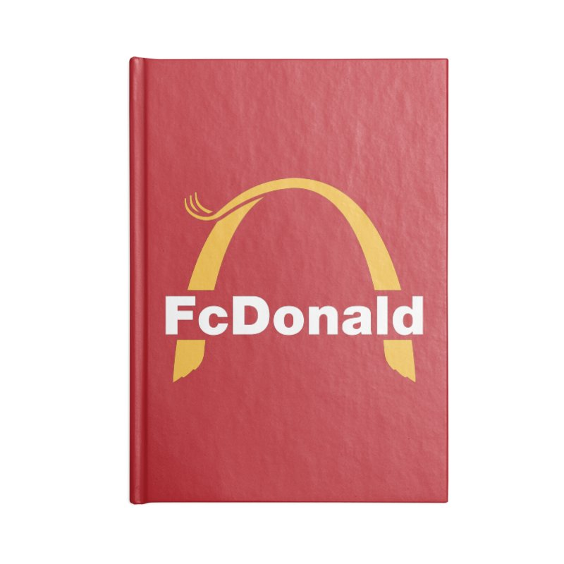 FcDonald Accessories Blank Journal Notebook by Quick Brown Fox