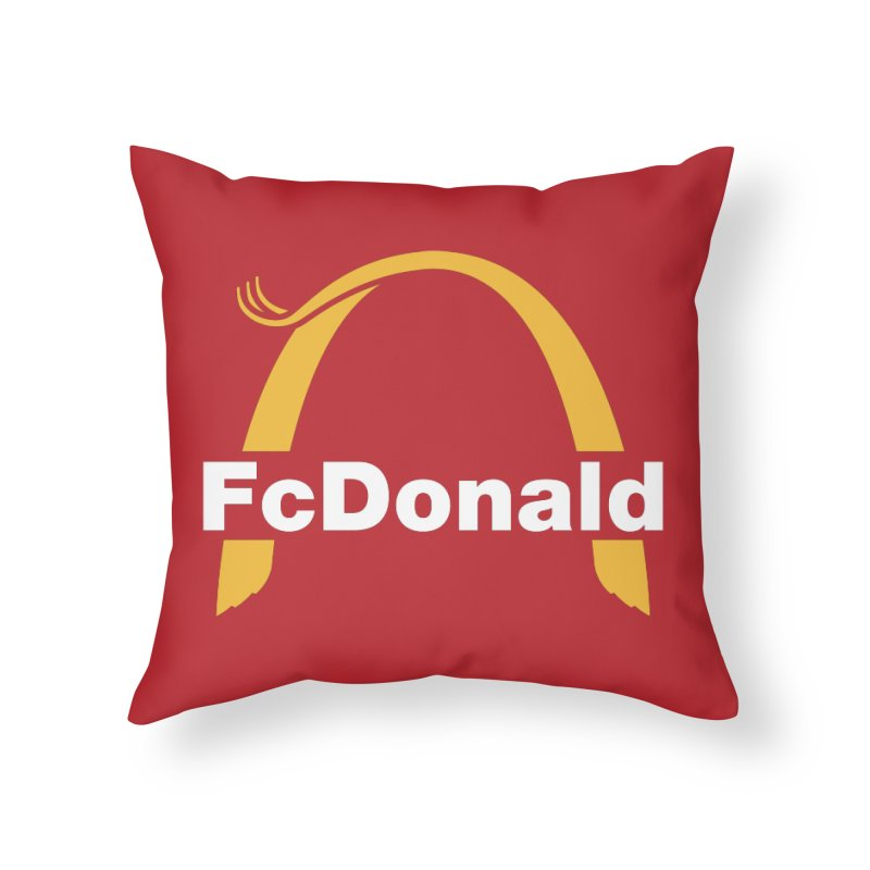 FcDonald Home Throw Pillow by Quick Brown Fox