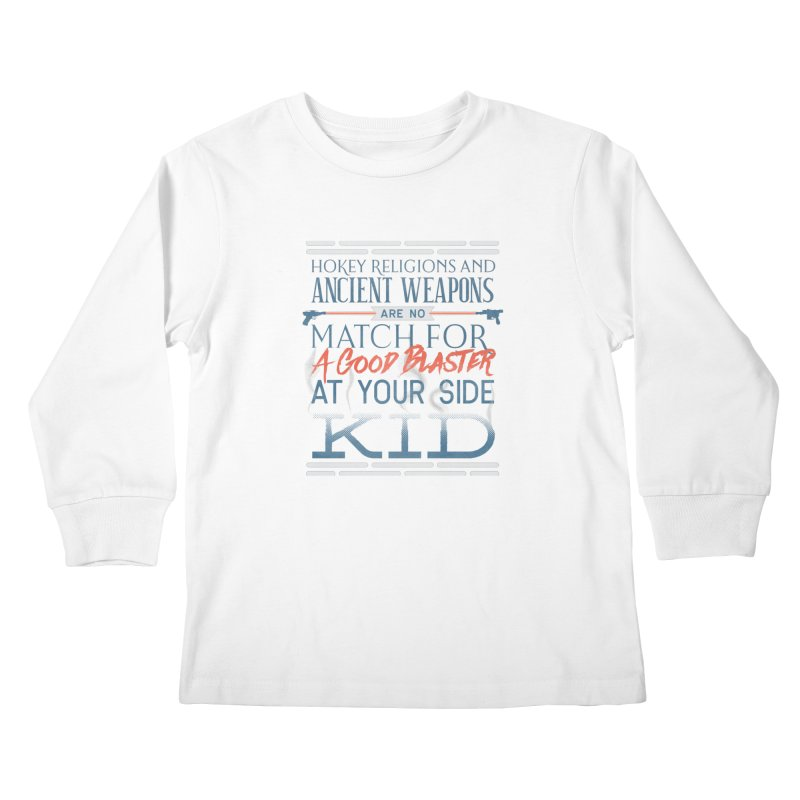 Smugglers' Wisdom Kids Longsleeve T-Shirt by Quick Brown Fox